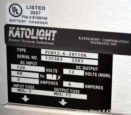 Used-Katolite 125 kW Standby Natural Gas Generator Set. Katolight model NL125FPG4 SN-GEN0916DTS. GM 8.1 Liter engine rated 2...
