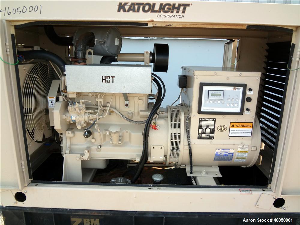 Used- Katolight 40 kW standby diesel generator set, model SED40FGJ4, SN-104520-1204. John Deere 4045DF150 engine, SN-PE4045D...