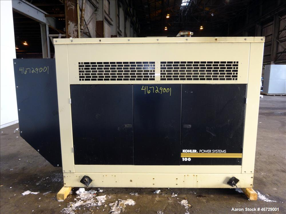 Used- Kohler 100 kW natural gas generator model 100RZG, GM 8.1L engine