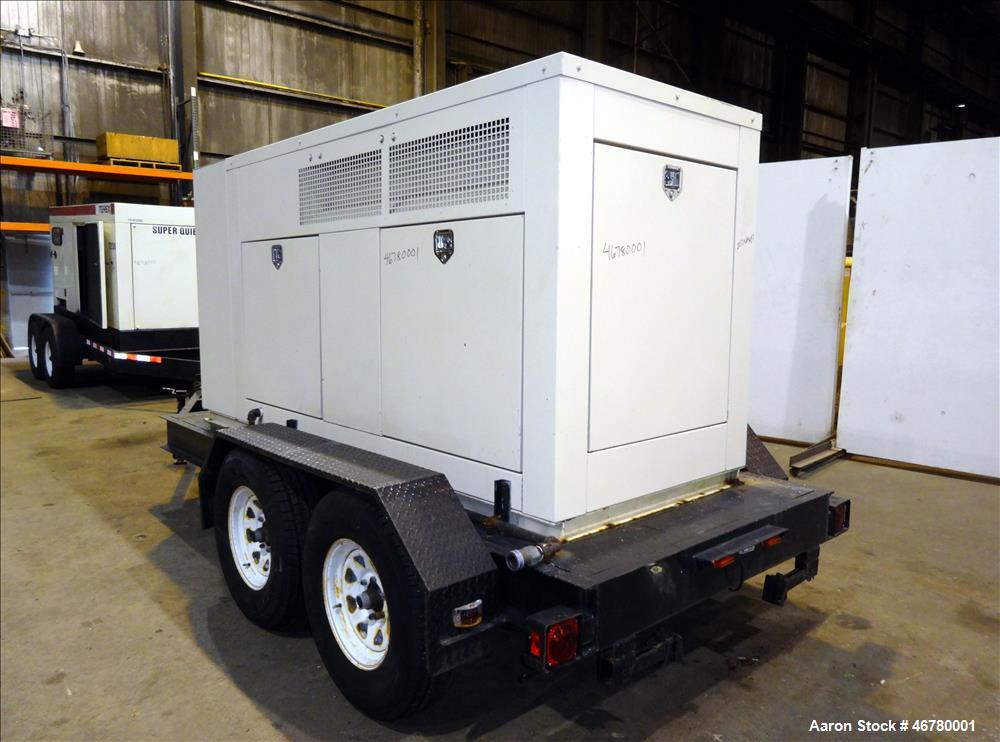 Used- Kohler 90 kW standby (85 kW prime) natural gas portable / trailered genera