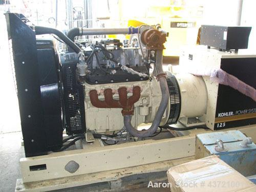 Used-Kohler Generator, Model 125 RZG.Natural gas, 59 hours, 60 hz, 1800 rpm, GM34464-GA1, manufactured 2006.