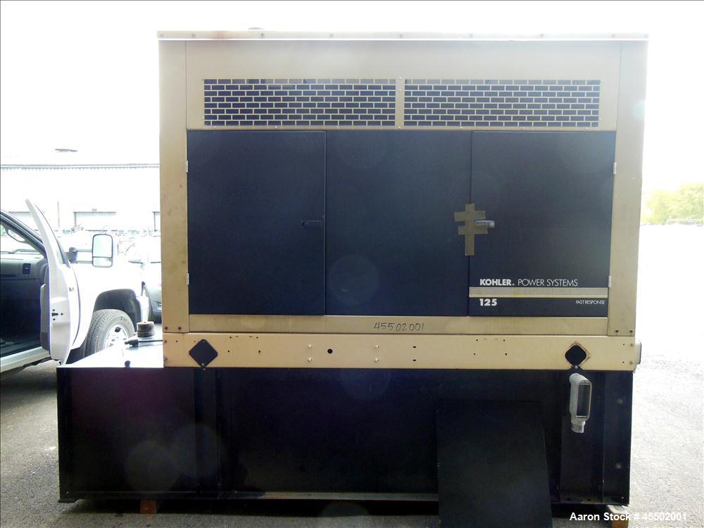 Used- Kohler 125kW Standby Diesel Generator Set, Model 125REOZJB