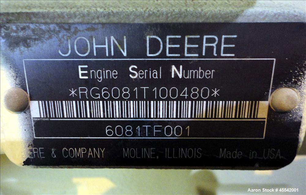 Used-Kohler 135 kW Standby Diesel Generator Set, Kohler Model 135ROZJ