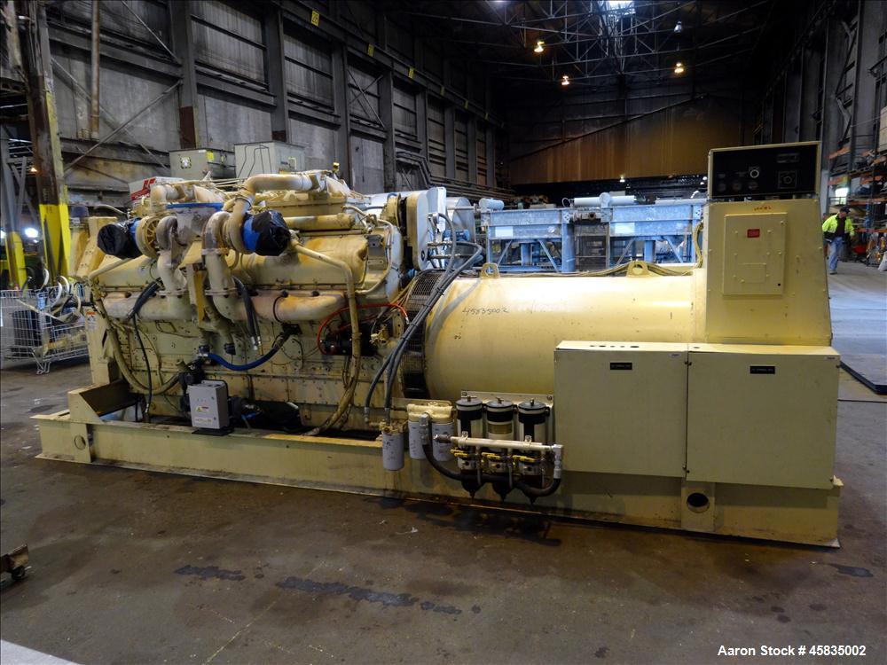 Used- Kohler 1500 kW  Diesel Generator 1500ROZD71, Detroit Diesel 16V-149TIB