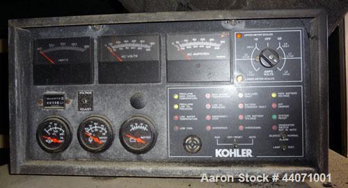 Used- Kohler 150kW standby (135 kW prime) diesel generator set, model 150R0ZJ, SN-610933. John Deere 6081AF001 8.1L engine r...