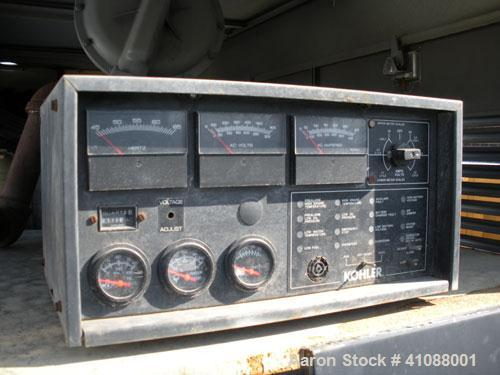 Used-Kohler 150 kW Natural Gas Generator Set, 3/60/277-480V model 150RZD, Spec PA-194036. 376 hours, weather enclosure. SN-3...