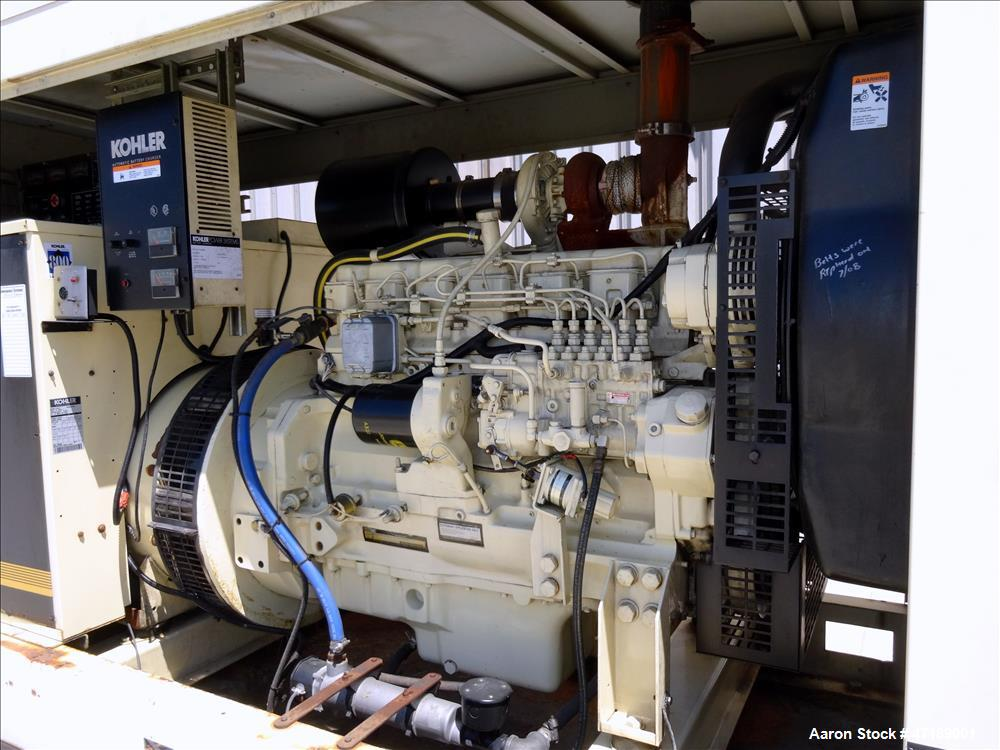 Used- Kohler 180 kW diesel generator model 180R0ZJ71, John Deere 6076AF011 engin