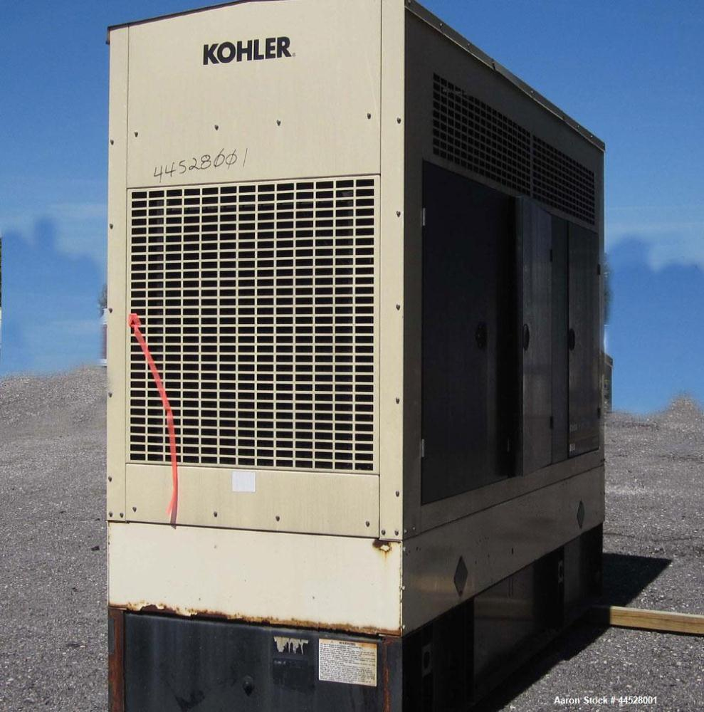 Used- Kohler 265kW standby (240kW prime) diesel generator set, model 250REOZV SN 767397, Volvo TAD1031GE engine rated 400 HP...