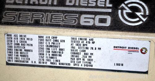 Used- Kohler 265kW Standby Diesel Generator Set. Kohler model 250REOZD, SN-653545. Detriot Diesel Series 60, 4-cycle turboch...