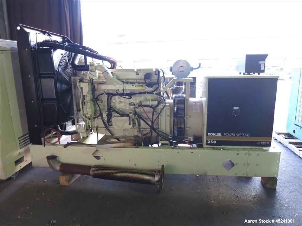 Used- Kohler 255 kW natural gas generator set, model 250RZD. Detroit Diesel S60G