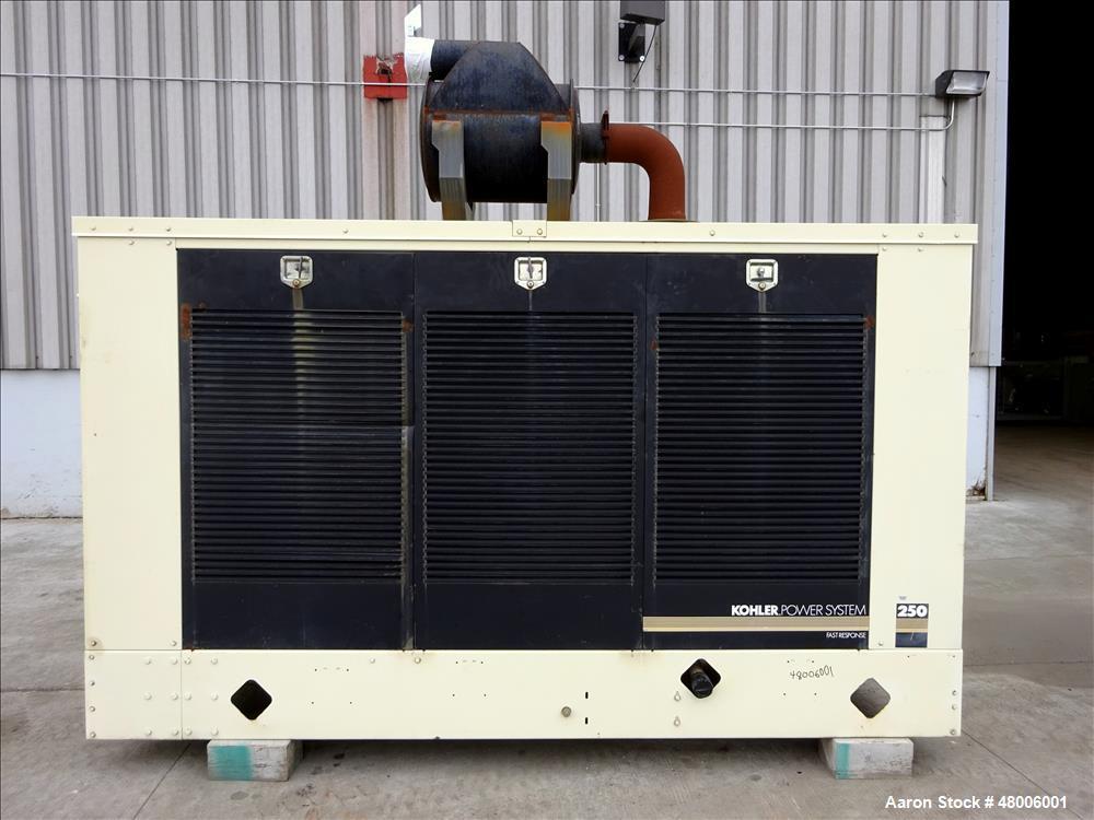 Used- Kohler 255 kW  natural gas generator model 250RZD, Detroit Diesel S60G eng