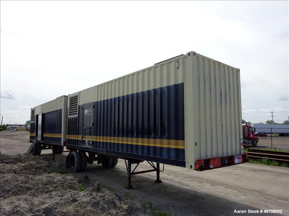 Used-Kohler 300 kW portable  rental diesel generator. Detroit Diesel model S60 e