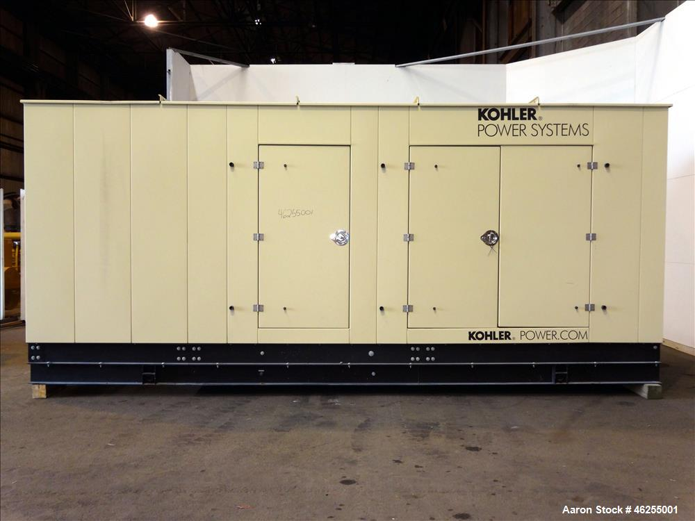 Used- Kohler / Doosan 300 kW natural gas generator, model 300REZXB. Doosan D183T