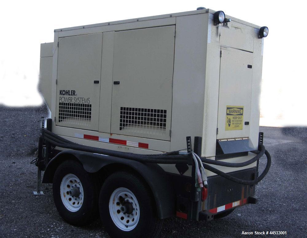 Used- Kohler 33 kW prime rated, portable / trailer mounted, diesel generator set, model 30REOZJB SN- 0789170. John Deere 302...