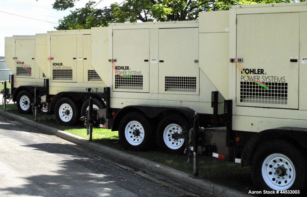 Used- Kohler 33 kW Prime Rated, Portable / Trailer Mounted, Diesel Generator Set, Model 30REOZJB, Serial #2004451.  John Dee...