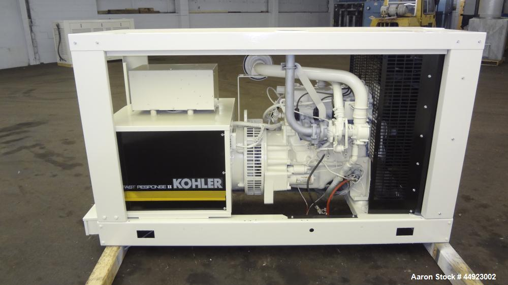 Used- Kohler 30kW standby (27 kW Prime) natural gas generator set, model 30RZ202, SN-320614. Ford CSG-649 engine rated 82 HP...