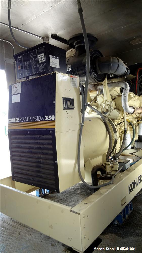 Used- Kohler 350 kW standby diesel generator set, model 350ROZD71 SN-386497. Detroit Diesel 8V-92TA engine rated 568 HP @ 18...