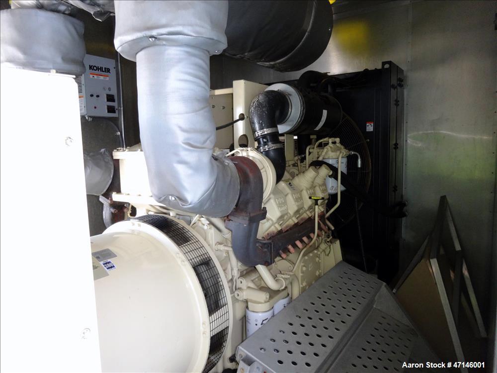 Used- Kohler 505 kW Diesel Generator 500ROZD4, MTU/Detroit Diesel 8V2000 Engine