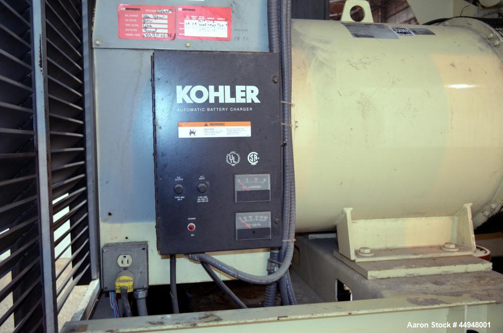 Used- Kohler 440 kW Standby (400 kW Prime) Diesel Generator Set, Model 500ROZD81, Serial #393883. Detroit Diesel engine mode...