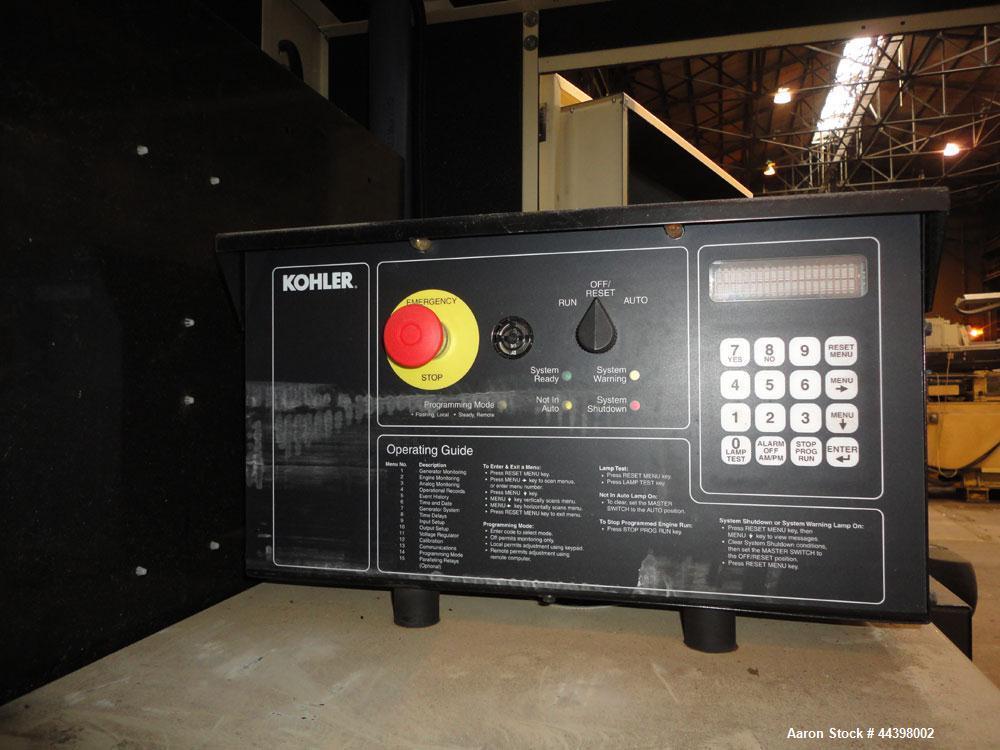 Used- Kohler 55 kW Standby (50 kW prime) Diesel Generator Set, trailer mounted, model 50REOZJB, serial #2146207. John Deere ...