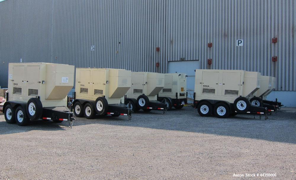 Used- Kohler 55 kW Standby (50 kW prime) Diesel Generator Set, portable / trailer mounted, model 50REOZJB, serial #2145835. ...