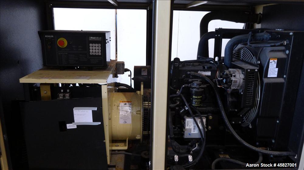 Used-Kohler 47 kW standby (43 kW prime)  50REOZJC, John Deere model 4024HF285