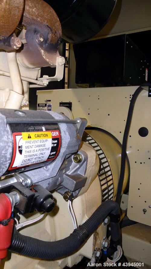 Used- Kohler 62 kW standby diesel generator set, model 60REOZJB, SN-2104402. John Deere 4045T150 engine rated 110 HP @ 1800 ...