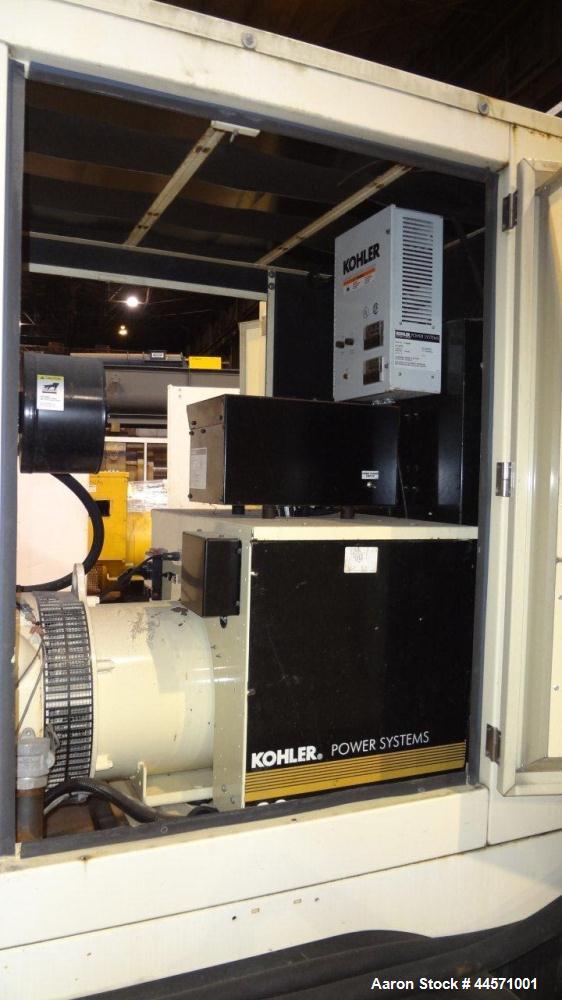 Used- Kohler 54 kW standby (50 kW prime) rated diesel generator set, trailer mounted, model 60REOZJB, SN-791303. John Deere ...