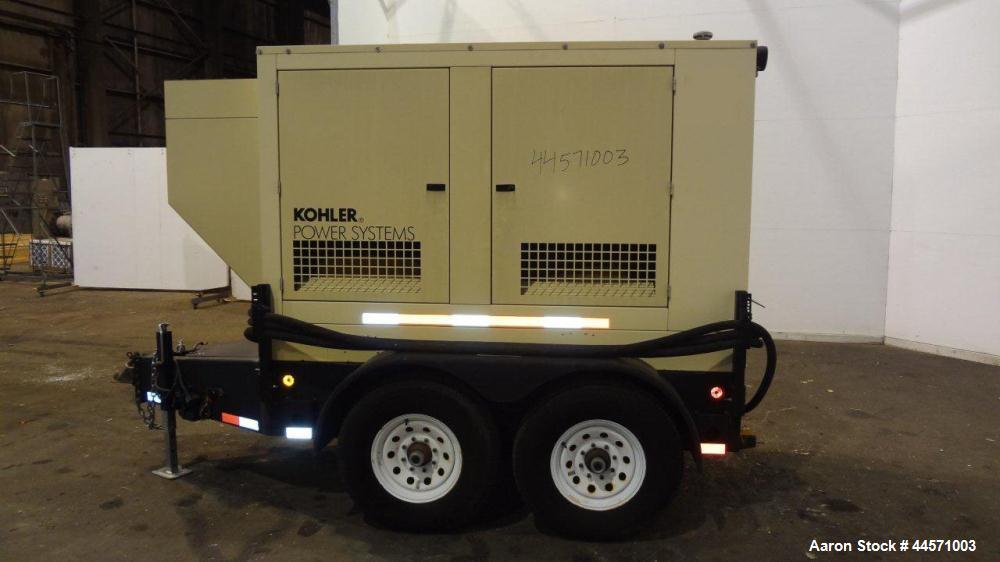 Used- Kohler 54 kW Standby (50 kW Prime) Rated Diesel Generator Set, trailer mounted, model 60REOZJB, serial #2002041.  John...