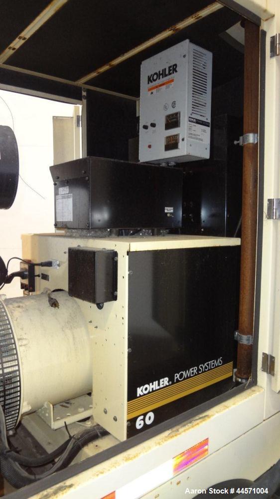 Used- Kohler 54 kW standby (50 kW prime) diesel generator set, trailer mounted, model 60REOZJB, SN-2000383. John Deere 4045T...