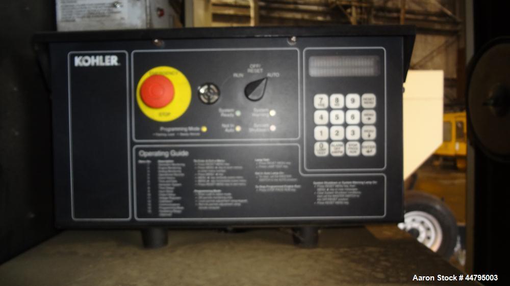 Used- Kohler 54 kW Standby (50 kW Prime) Rated Diesel Generator Set, trailer mounted, model 60REOZJB, serial #0794734.  John...