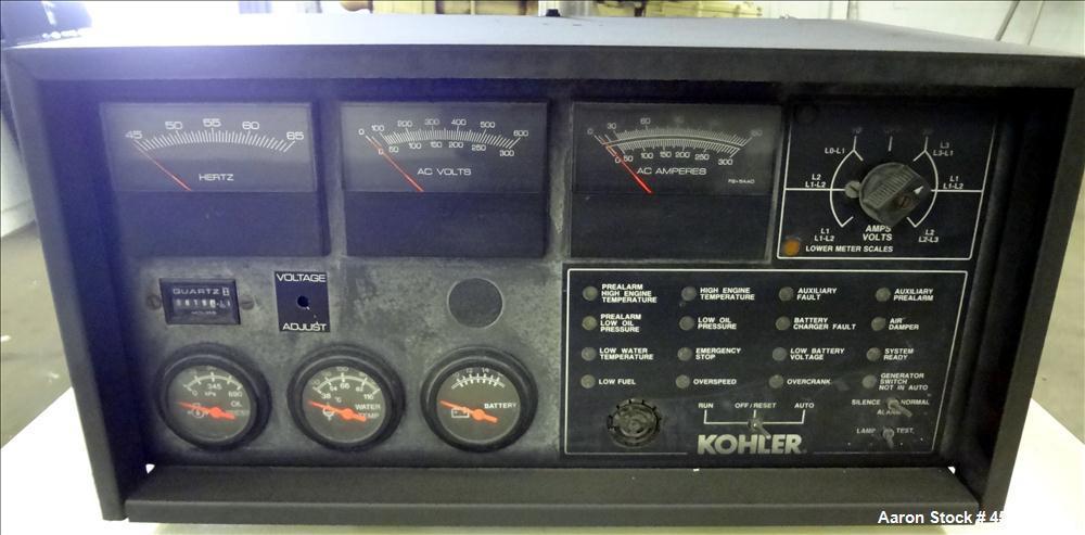 Used- Kohler 60 kW natural gas generator, model 60RZ272. Ford LSG-875 engine.
