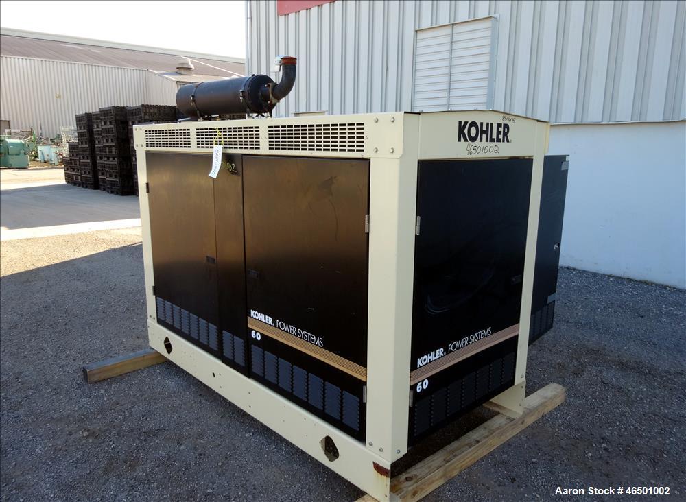 Used-Kohler 57 kW  natural gas generator, model 60RZG. GM 5.7L engine.
