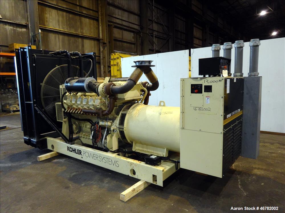 Used-Kohler 755 kW diesel generator 750ROZD4, Detroit Diesel / MTU 12V2000 eng
