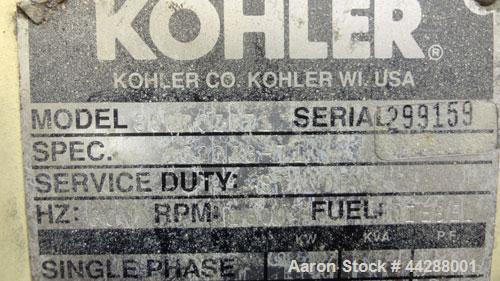 Used- Kohler 800 kW diesel generator, model 800ROZD71. Detroit Diesel 16V-92TA e