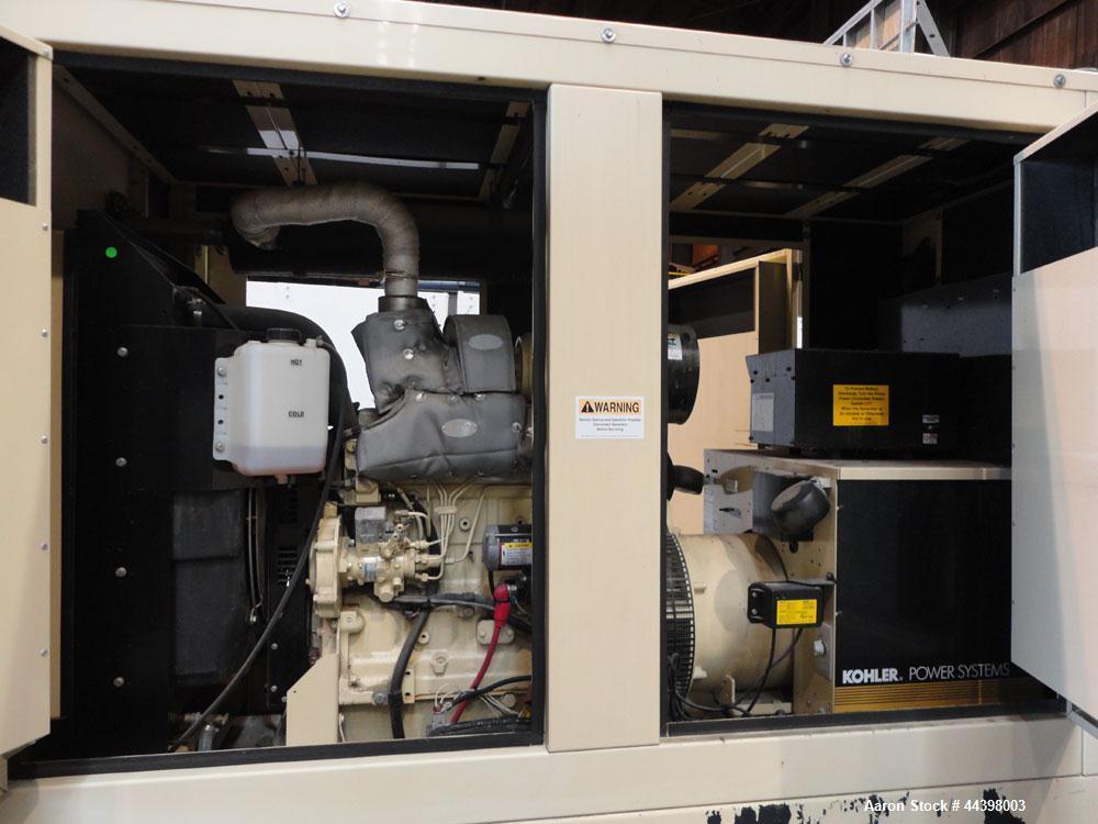 Used- John Deere / Kohler 55 kW standby (50 kW prime) diesel generator set, portable / trailer mounted, model 50REOZJB, SN-2...