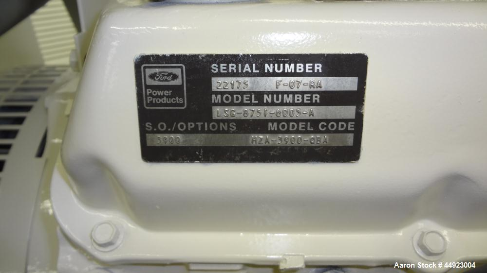Used- Kohler 70kW Standby Natural Gas Generator Set.  Ford model LSC-8751-6005-A engine, serial #22175 F-07-RA. 3/60/240V re...
