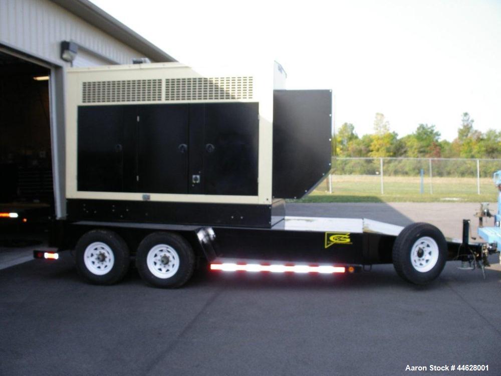 Used-Kohler 250 kW Trailer Mounted Generator.  3 Phase, 277/480, 383 amps, John Deere 9 liter turbocharged diesel, (10) 4/0 ...