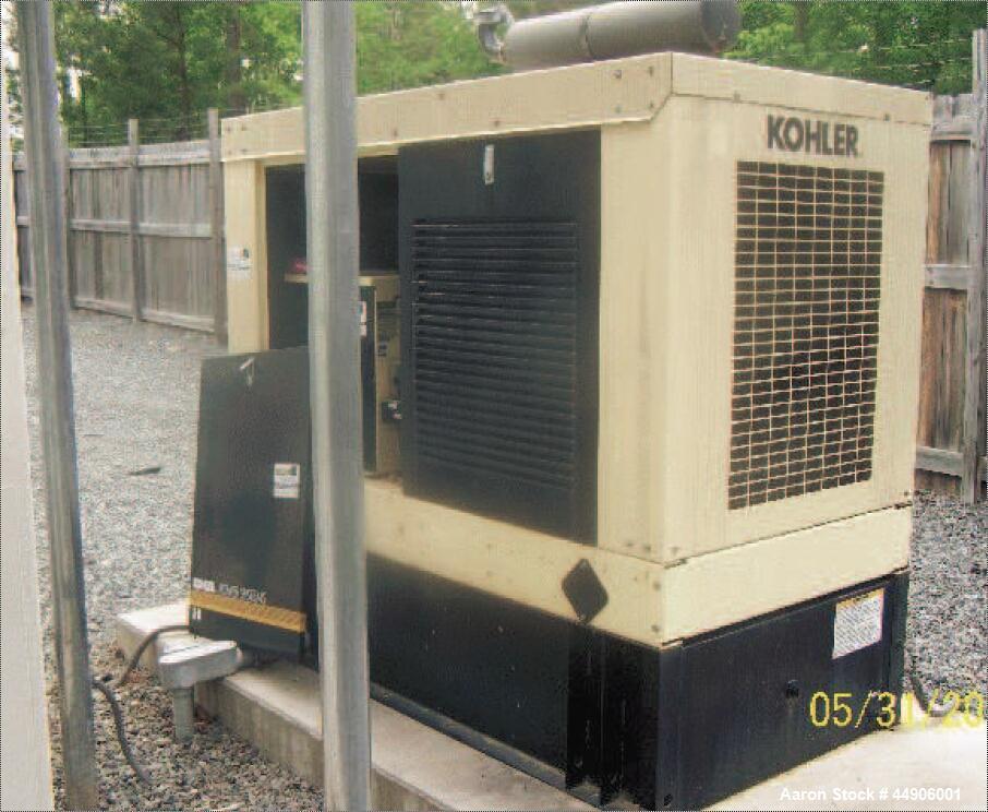 Used- Kohler 25 KW Genset. Single phase 120/240 100amp, 120 gallon fuel tank.
