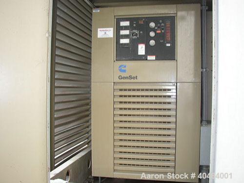Used- Cummins 1250kWdiesel generatorset, 3/60/277-480V, engine model KTA-50-63, engine number 33116930, 1850 hp @ 1800 rp...