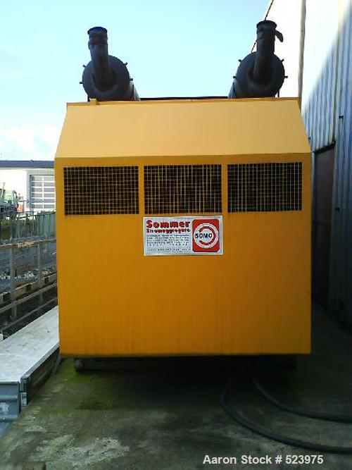 USED: Diesel generator Magirus Deutz, 330 kw, boxed in a container,includes control panels.