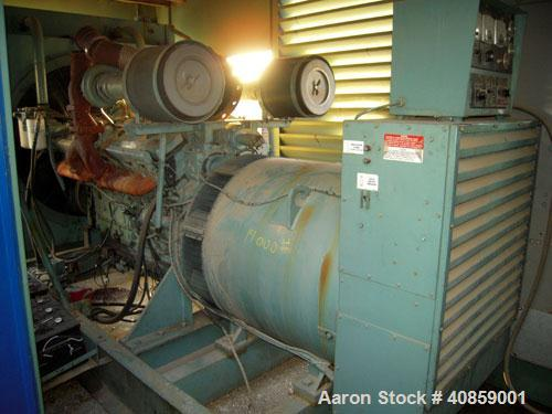 Used Detroit Diesel 750 kW diesel generator set. Detroit Diesel 16V92T engine, 1095 brake horsepower, serial #16VF006868. Ma...