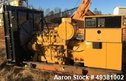 Used- Caterpillar / CAT  Generator, 375 kW, Natural Gas, Model G3412C