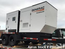 Unused- 2017 Generac MMG175 Diesel Generator. On a trailer. Never started, batteries never connected. Manual and paperwork a...