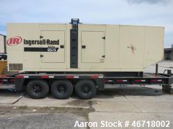 Used- Ingersoll Rand 504 kW portable diesel generator model G575. TAD1631GE