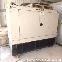 Used-Katolight Diesel Generator,  40 KW. Diesel. Model D40FRJ4, SP Series. Standby Service.  1800 RPM, 60 Hz, 50 Hz.  277 / ...