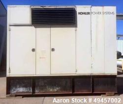 Used- KOHLER 400KW Standby Diesel Generator, Model 400ROZD.