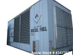 Used- Cummins 1500 kW diesel generator model 1500DFMB. Cummins KTTA50-G2 engine