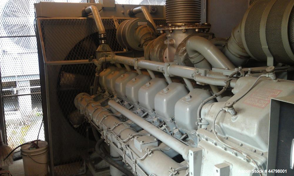 Used-Mitsubishi Generator, Model S16N-PTA, 670 hp, 1800 rpm, approximately 200 hours.