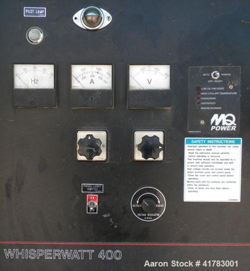 Used- MQ Power / Multiquip Whisperwatt 352 kW Standby /320 kW Prime Rated Diesel Generator Set. Whisperwatt model DCA-400SSK...